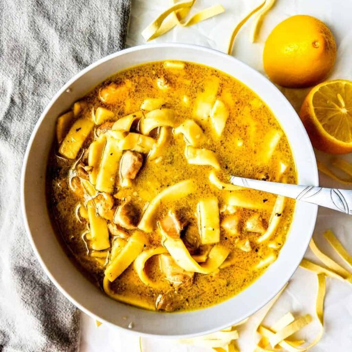 sweet onion chicken noodle soup