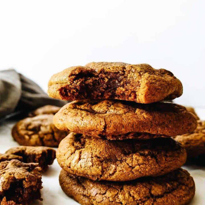 fudge hazelnut espresso cookies