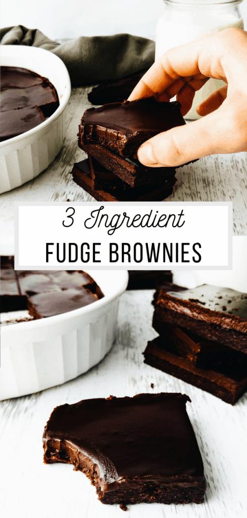 3 ingredient fudge brownies vegan and healthy recipe pinterest