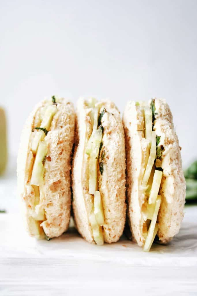 cucumber sandwiches side by side