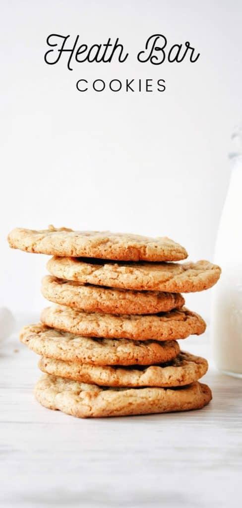 heath bar cookies stacked pinterest pin