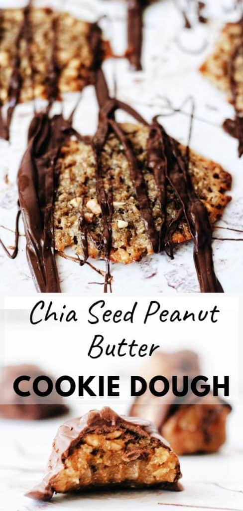 pinterest pin chia seed peanut butter cookie dough