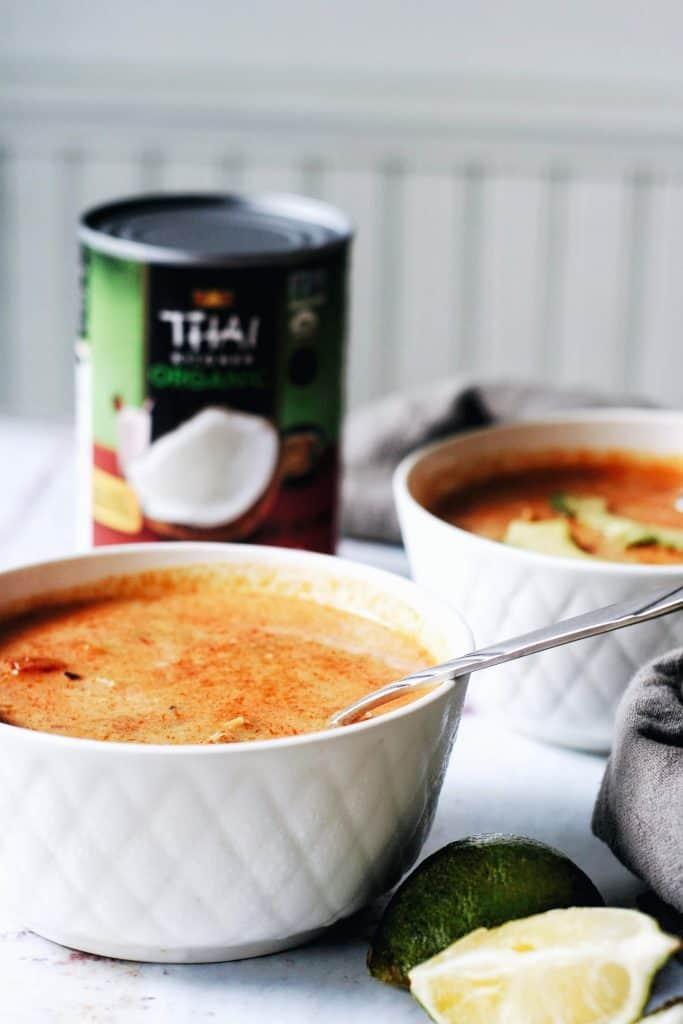 chili bowls with thai kitchen coconut milk