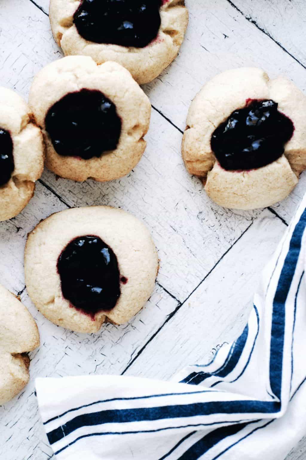 Gluten Free Thumbprint Cookies (Dairy Free)