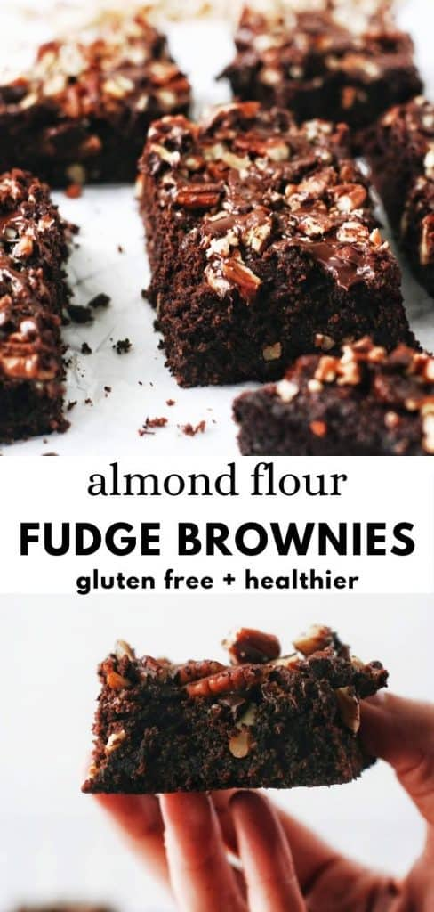 These AMAZING almond flour brownies are grain free, gluten free, refined sugar free, and um DELICIOUS! Healthy, fudgy, cocoa brownies with honey. A perfect dessert!
