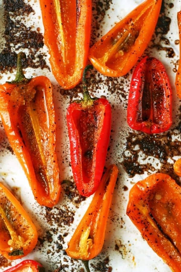 Roasting Mini Sweet Peppers